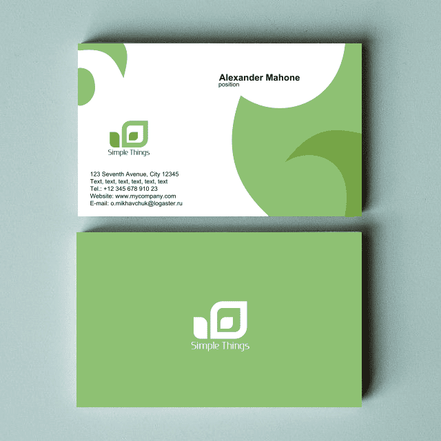 Logaster business card templates